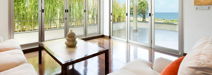 Comfy lounge area of the open-plan living room at Villa Sanur Residence